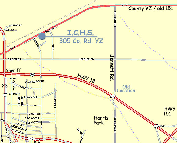 Local Map Showing ICHS Location